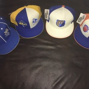 4- HBCU Hats Lot NWT fitted Caps New